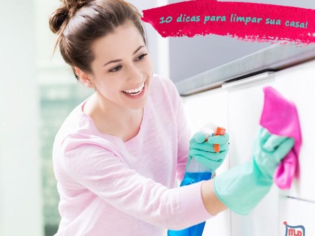 10 dicas simples para limpar a casa sem perder tem
