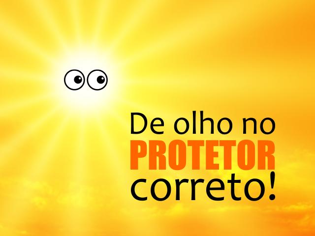 De olho no protetor solar!