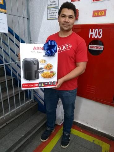 Ganhador da Fritadeira Ayr Fry Arno Promoção Natal Solidário em Dobro!