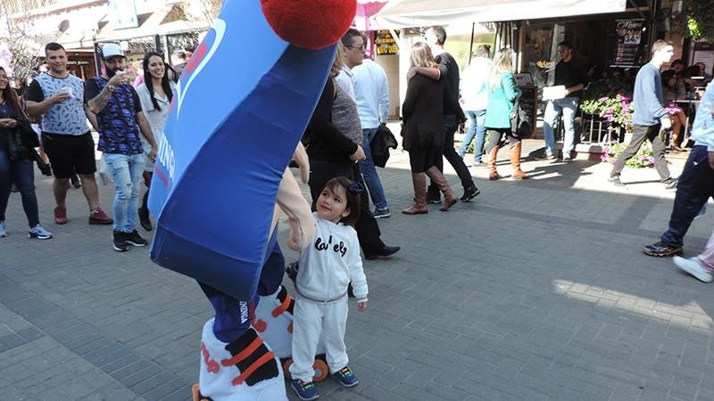 Mascote Pirinha em Campos do Jordão!