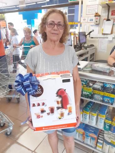 Ganhadora da Cafeteira Dolce Gusto Promoção Natal Solidário em Dobro!