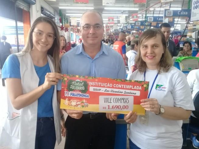 Entrega Vale-Compras Lar Vicentinos Santana - São José dos Campos!
