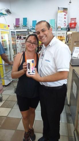 Ganhadora do Smartphone Samsung A10 Promoção Natal Solidário em Dobro!