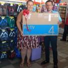 """Ganhadora do Smart Tv Samsung 32"""" Led Promoção Natal Solidário em Dobro!"""