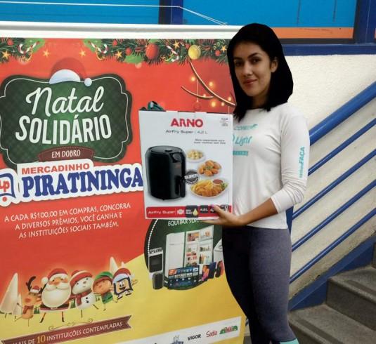 Ganhadora da Fritadeira Ayr Fry Arno Promoção Natal Solidário em Dobro!