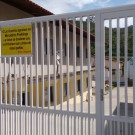 Portão novo Lar Vicentino Paraibuna
