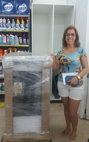 Ganhadora do Fogão Consul 4 Bocas Promoção Natal Solidário em Dobro!