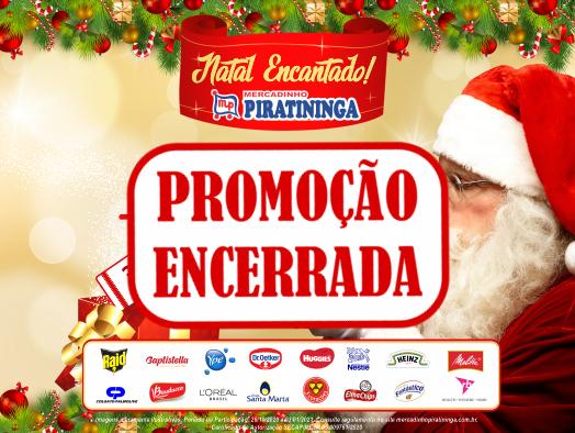 Confira os ganhadores da Promoção Natal Encantado Mercadinho Piratininga!