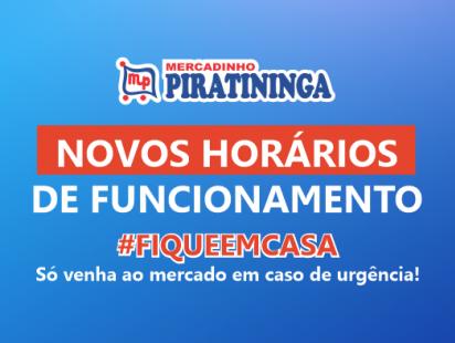 Atenção! Horários de Funcionamento da Lojas.