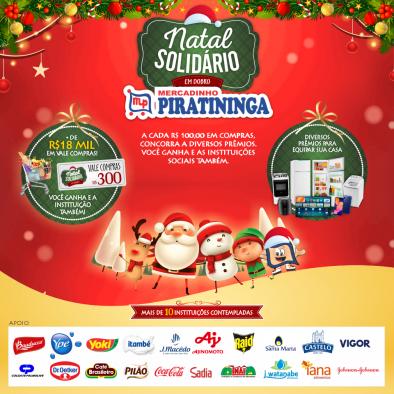 Ganhadores da Promoção Natal Solidário em Dobro - Mercadinho Piratininga!