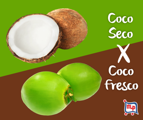 Coco fresco e Coco seco são a mesma fruta?