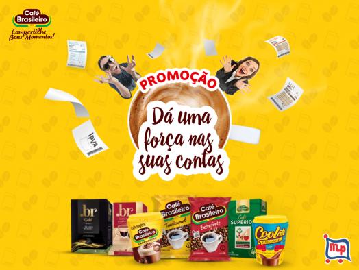 """Promoção Café Brasileiro """"Dá uma força nas suas contas""""!"""