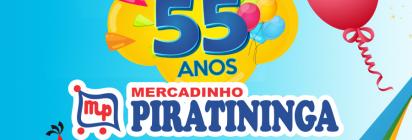 Mercadinho Piratininga comemora 55 anos de história!
