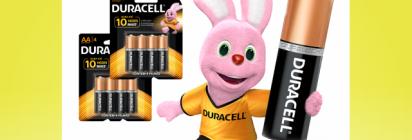 A energia das pilhas da Duracell dura até 10 vezes mais!