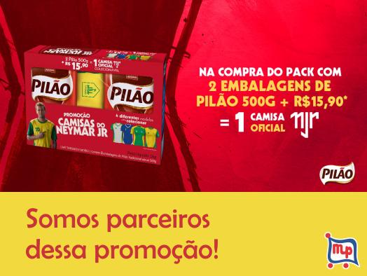 """Promoção """"Camisas do Neimar Jr"""" Café Pilão!"""