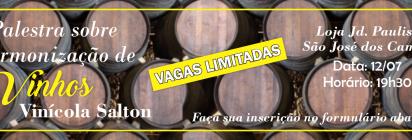 Evento! Harmonização de Vinhos Mercadinho Piratininga e Vinícola Salton!