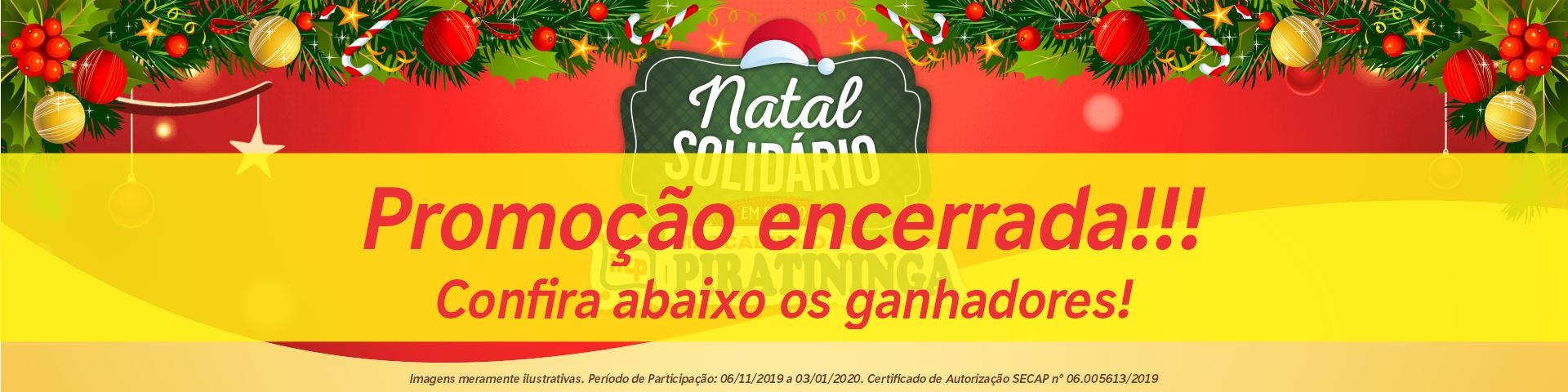 Confira os ganhadores da Promoção Natal Solidário em Dobro!