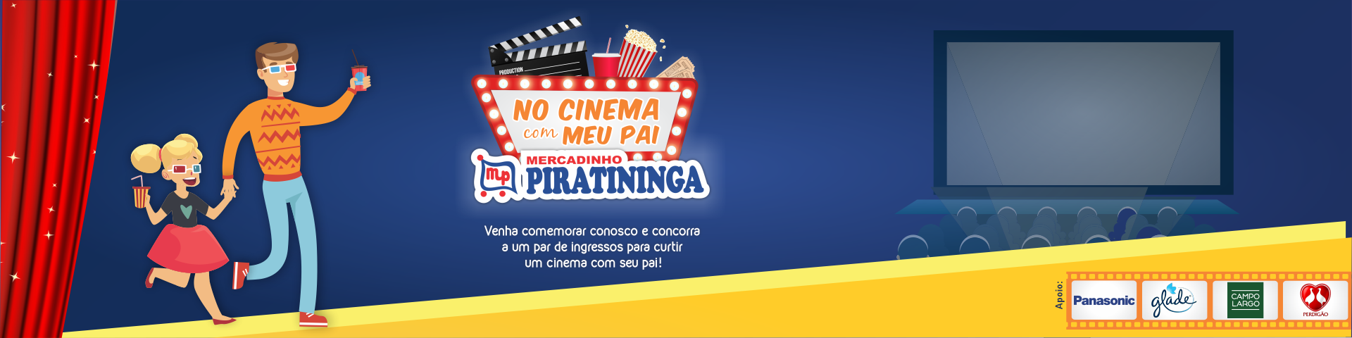 """Promoção Relâmpago """"No Cinema com meu Pai""""!"""
