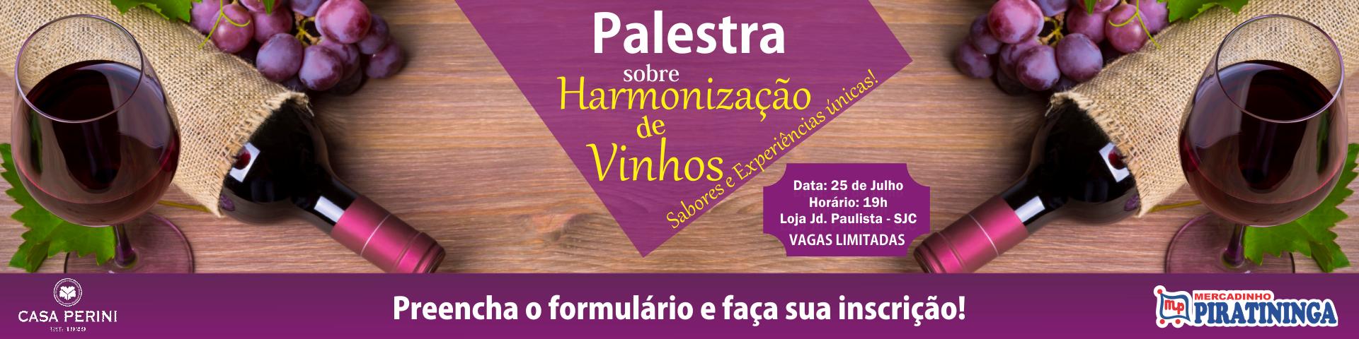 PALESTRA SOBRE VINHOS CASA PERINI - SJC!