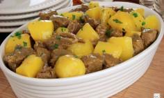 Carne de Panela com Batata e Mandioquinha