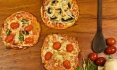Pizza de frigideira de massa de pastel!