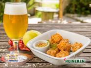 Heineken acompanhada de Provolone à Milanesa!