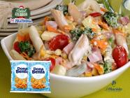 Salada de macarrão Dona Benta com legumes e frios!