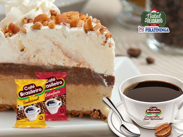 Torta Sorvete de Café Brasileiro e Nozes