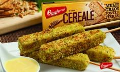 Queijo coalho com crosta de Cereale Bauducco!