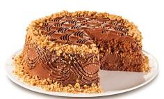 Bolo de chocolate com castanha
