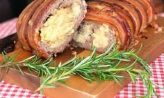Rocambole de Carne Moída com Bacon