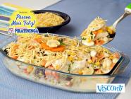 Fricassê de bacalhau com Batata Palha Visconti!