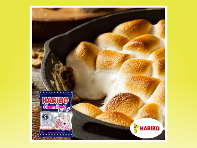 Marshmallows Haribo com chocolate e ao Forno!